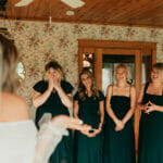 Bridesmaids at Hailey and Austin's wedding at Maidenwood Weddings and Events